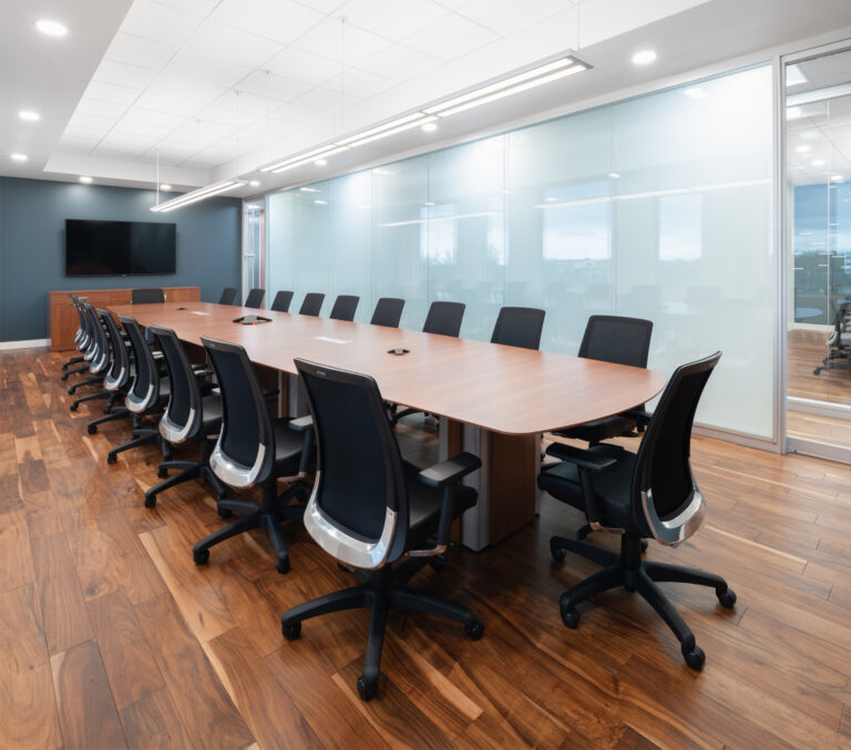 Artopex Take Off Conference table and Blitz chairs - Excelitas