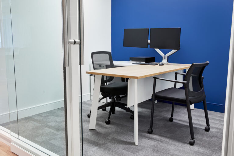 Artopex GPL Assurances - Take Off Conference table, Kub chair, Vortex Mesh chair and Sky walls