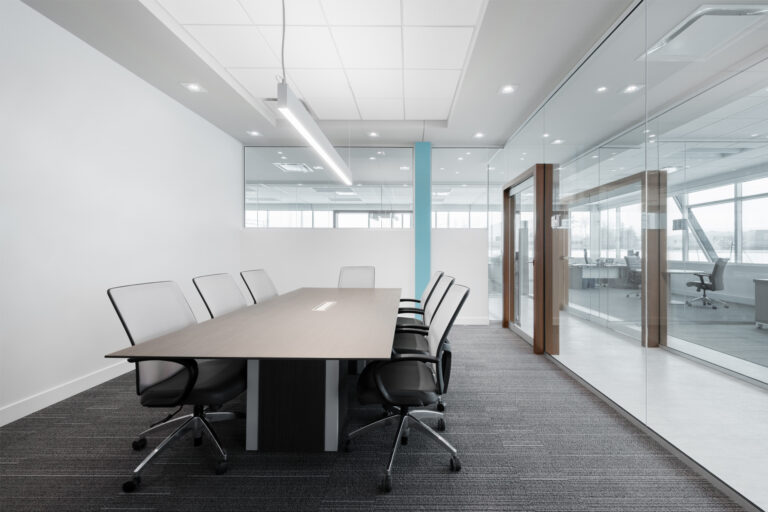 Artopex Take Off Conference table and Vortex Mesh chairs - Jf Tech