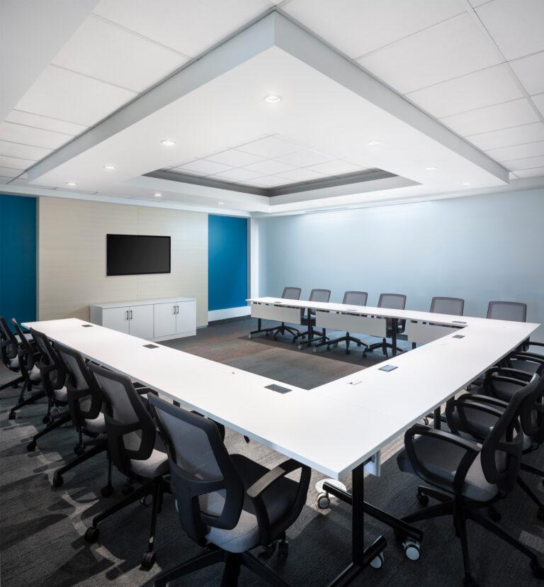 Artopex Genius Tables and Vortex Mesh chairs - AMP