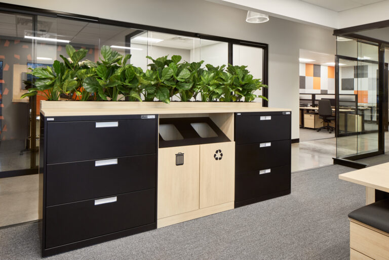 Artopex File Cabinets, Noki, garbage bin and recycling