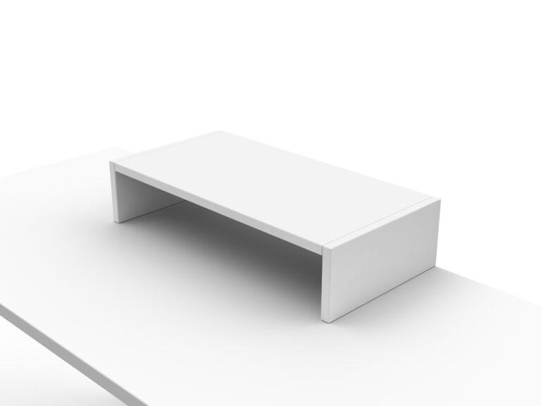 Artopex Socle Ecran Blanc Screen Riser White
