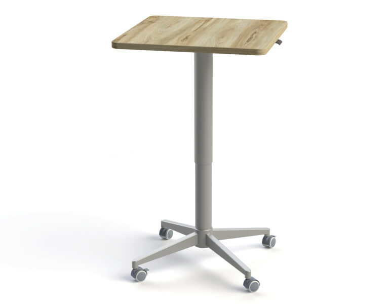 Artopex Adjustable Meeting Tables - Square Rounded Corners - Sesame_Silver 1920X0